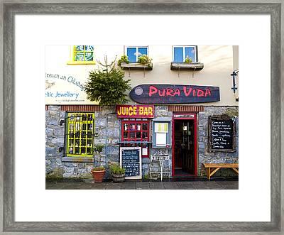 Juice Bar Framed Print by Rae Tucker