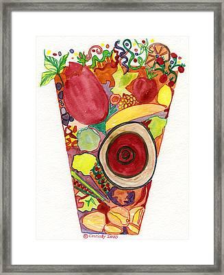 Juice Ecstasy Framed Print by Christy Woodland