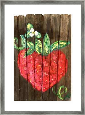 Juicy Berry Framed Print