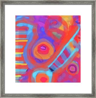 Framed Print featuring the painting Juicy Colored Abstract by Susan Stone