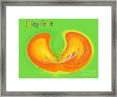 Juicy Fruit Framed Print