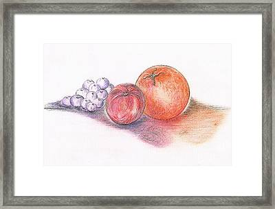 Juicy Fruits Framed Print