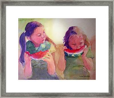 Juicy Framed Print by Lora Garcelon