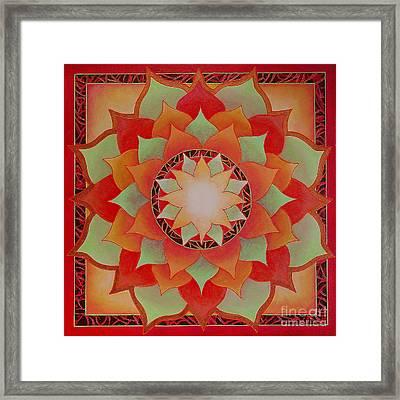 Juicy Lotus Framed Print by Charlotte Backman