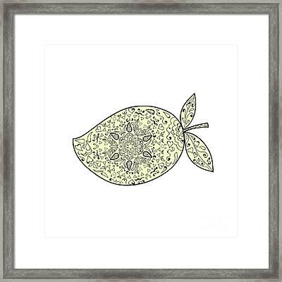Juicy Mango Fruit Mandala  Framed Print by Aloysius Patrimonio