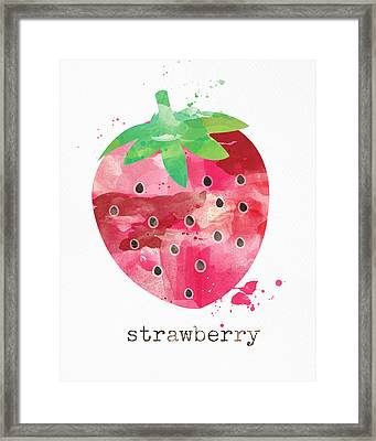 Juicy Strawberry Framed Print by Linda Woods