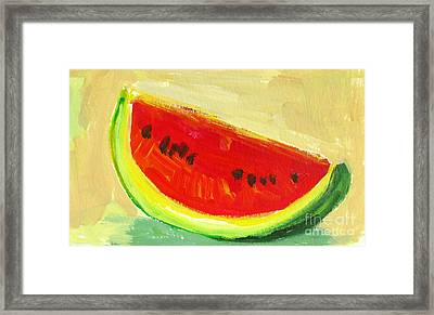 Juicy Watermelon - Kitchen Decor Modern Art Framed Print