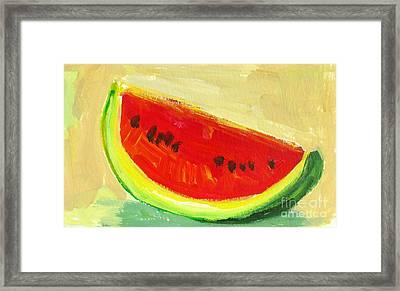 Juicy Watermelon - Kitchen Decor Modern Art Framed Print