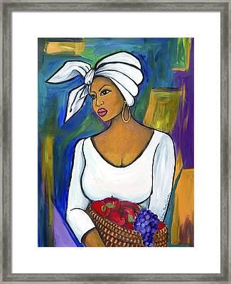 Framed Print featuring the painting Juju by Diane Britton Dunham