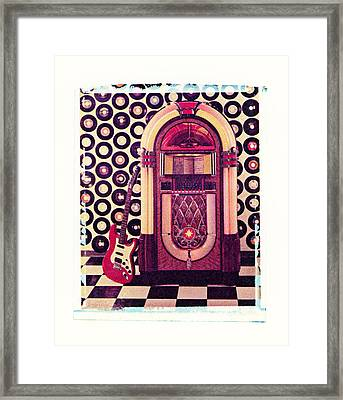 Juke Box Polaroid Transfer Framed Print by Garry Gay