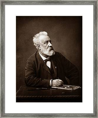 Jules Verne - Father Of Science Fiction Framed Print by War Is Hell Store