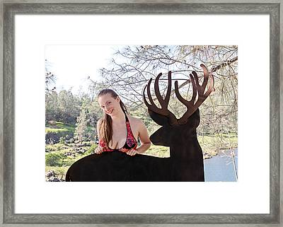 Julia And River Sculpture 2014 Framed Print by James Warren