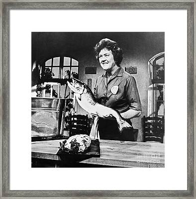 Julia Child (1912-2004) Framed Print