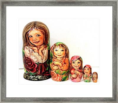 Julia Nesting Doll Framed Print by Viktoriya Sirris