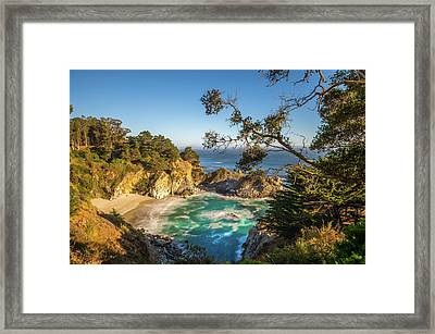Framed Print featuring the photograph Julia Pfeiffer Burns State Park California by Scott McGuire