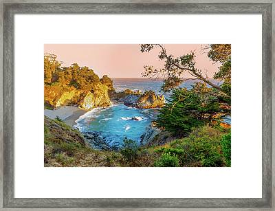 Framed Print featuring the photograph Julia Pfeiffer Burns State Park Mcway Falls by Scott McGuire