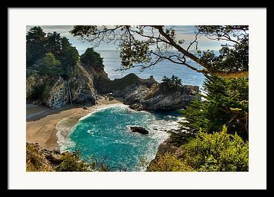 State Beach Near Big Sur Framed Prints