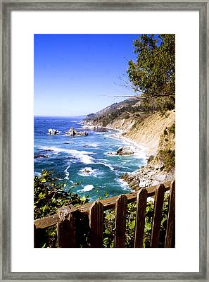 Julia Pfiffer Burns Coast Framed Print