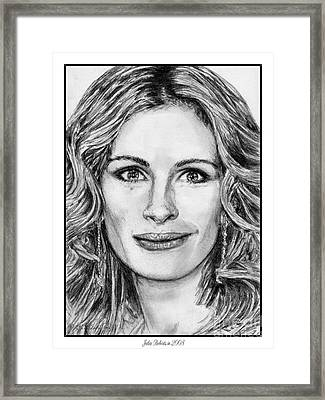 Julia Roberts In 2008 Framed Print by J McCombie