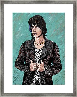 Framed Print featuring the painting Julian Casablancas by Sarah Crumpler