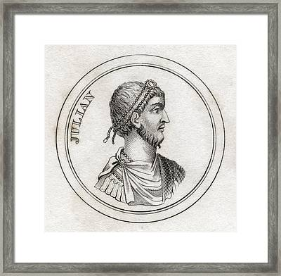 Julian The Apostate Flavius Claudius Framed Print by Vintage Design Pics