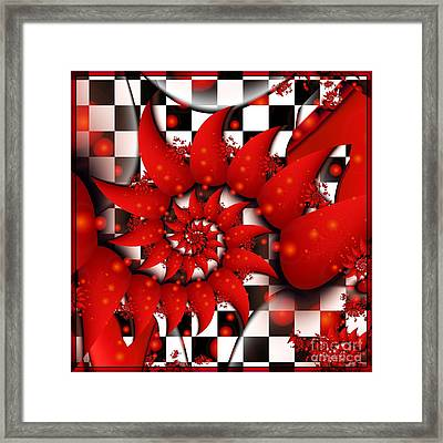 Julias Summer Red Framed Print