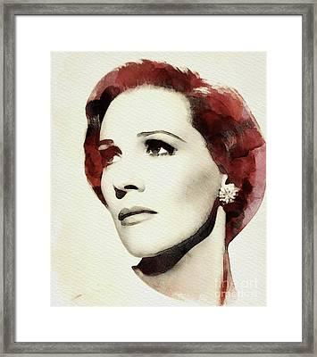 Julie Andrews, Actress Framed Print