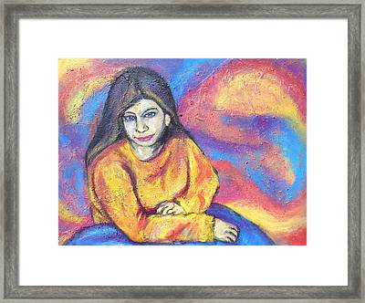 Julie In Yellow Framed Print