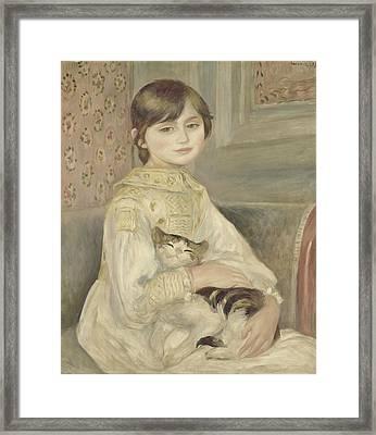 Julie Manet Framed Print by Auguste Renoir