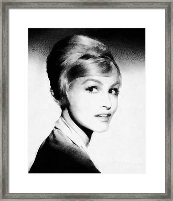 Julie Newmar, Vintage Actress By John Springfield Framed Print by John Springfield