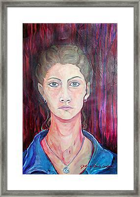 Julie Self Portrait Framed Print