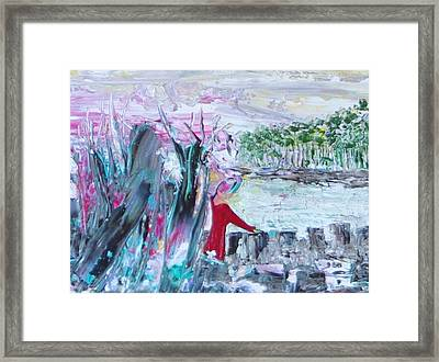 Juliet At The Castle Framed Print