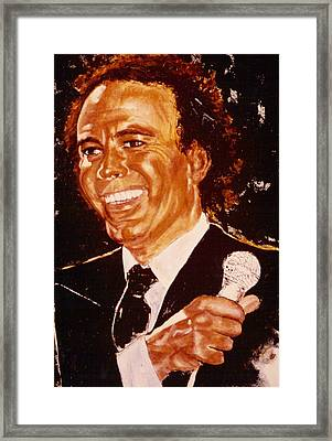 Julio Iglesias Framed Print by Shakti Brien
