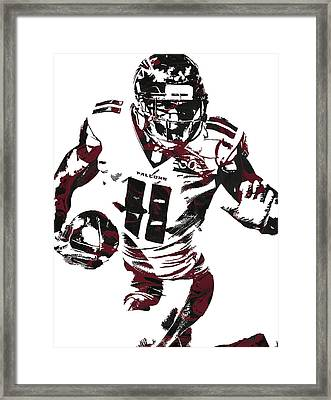 Julio Jones Atlanta Falcons Pixel Art 4 Framed Print