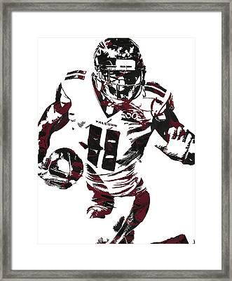 Julio Jones Atlanta Falcons Pixel Art 4 Framed Print