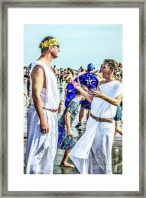 Julius And Cleopatra Framed Print by Yvette Wilson