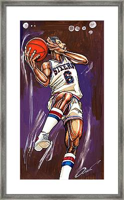 Julius Erving Framed Print by Dave Olsen