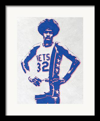 Julius Erving Framed Prints