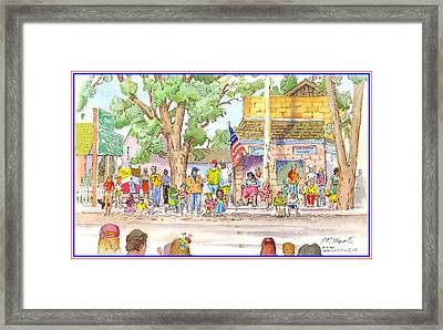 Framed Print featuring the painting July 4th 2000 by John Norman Stewart