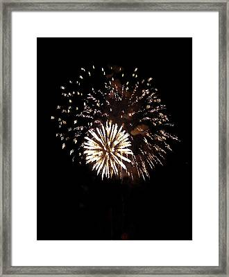 July 4th Fireworks Framed Print by Jeanette Oberholtzer
