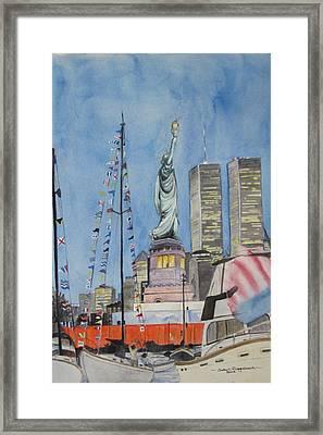 July 4th Framed Print by Judy Riggenbach
