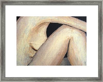 July Nude Framed Print by Deborah Rosier