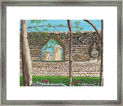 July  Portal Of Enlightenment Framed Print