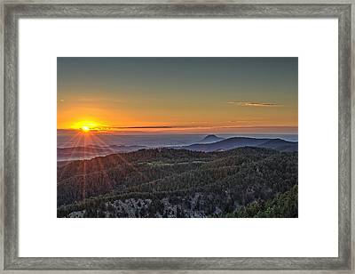 July Sunrise Framed Print