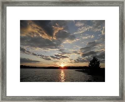 July Sunset Framed Print by Kate Gallagher