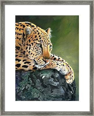 Framed Print featuring the painting Jumanji by Sherry Shipley