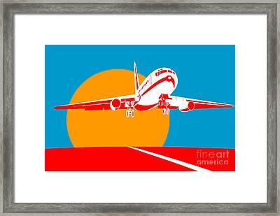 Jumbo Jet  Framed Print by Aloysius Patrimonio