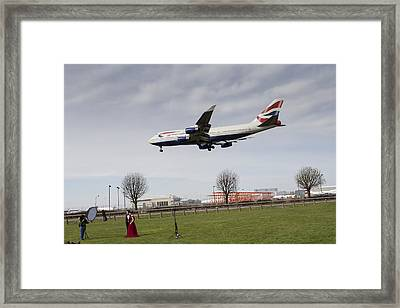 Jumbo Jet Photo Shoot Framed Print by David Pyatt