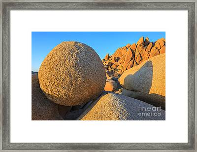 Jumbo Rocks In Joshua Tree Np Framed Print by Henk Meijer Photography