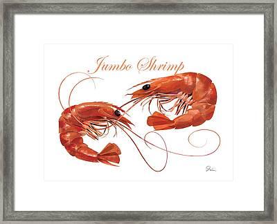 Jumbo Shrimp Framed Print by Trevor Irvin
